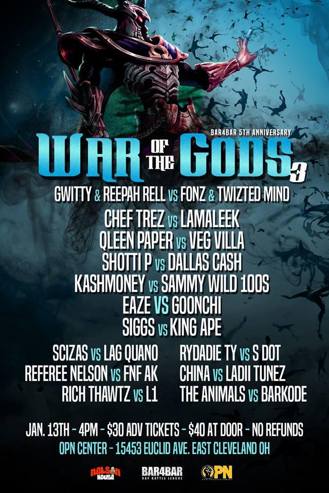 War of the Gods flyer